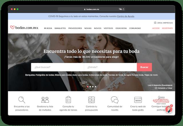 Listado de proveedores de boda más grande de México